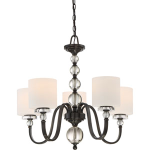 Downtown Dusk Bronze Five-Light Chandelier
