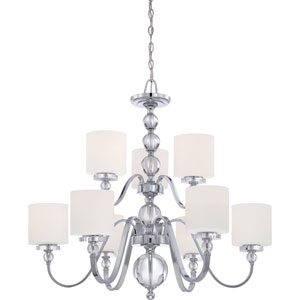 Downtown Polished Chrome Nine-Light Chandelier