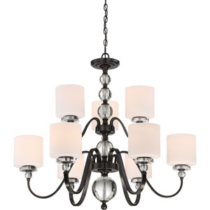 Downtown Dusk Bronze Nine-Light Chandelier