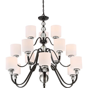 Downtown Dusk Bronze 15-Light Chandelier