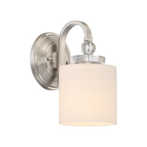 Downtown Brushed Nickel One-Light Wall Sconce