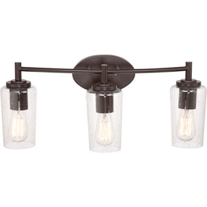 Edison Western Bronze Three Light Bath Fixture