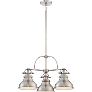 Emery Brushed Nickel Three-Light Chandelier