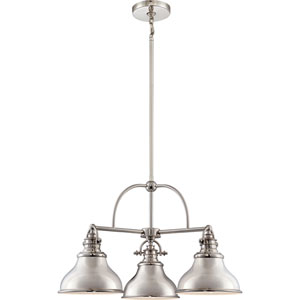 Emery Imperial Silver Three-Light Chandelier