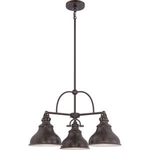 Emery Palladian Bronze Three-Light Chandelier