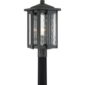 Everglade Earth Black 11-Inch One-Light Outdoor Post Lantern