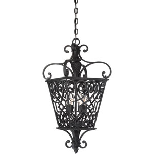 Fort Quinn Marcado Black Four-Light Foyer Piece