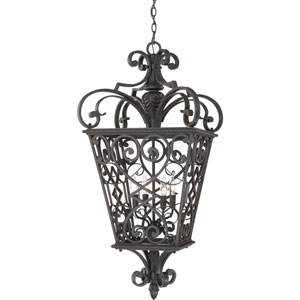 Fort Quinn Marcado Black Four-Light Outdoor Pendant