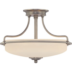Griffin Antique Nickel Three-Light Semi-Flush