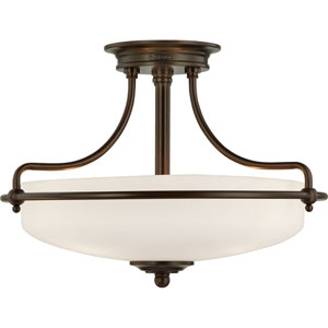 Griffin Palladian Bronze Three-Light Semi-Flush