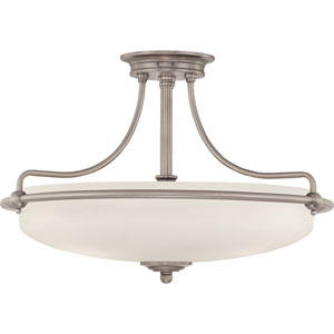 Griffin Antique Nickel Four-Light Semi-Flush