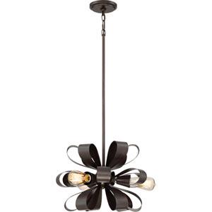 Gala Vino Bronze 17-Inch Three-Light Pendant