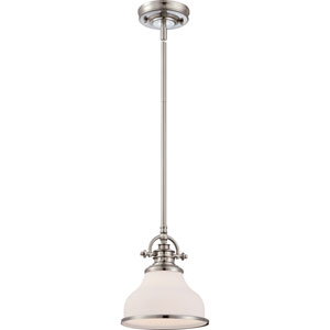 Grant Brushed Nickel One-Light Mini Pendant