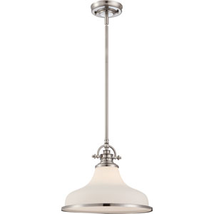 Grant Brushed Nickel One-Light Pendant