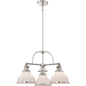 Grant Imperial Silver Three-Light Chandelier