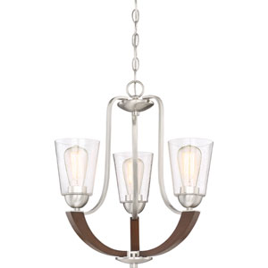 Holbeck Brushed Nickel 19-Inch Three-Light Dinette Chandelier