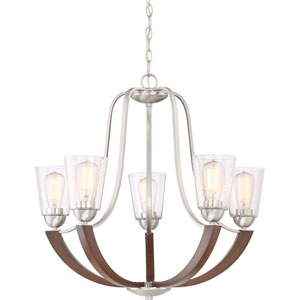 Holbeck Brushed Nickel 27-Inch Five-Light Chandelier