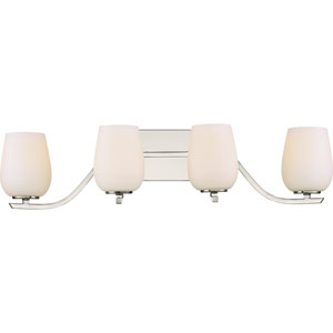 Holland Polished Nickel 28-Inch Four-Light Bath Light