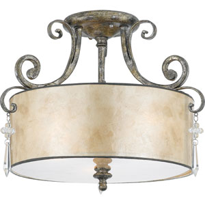 Kendra Mottled Silver Semi-Flush Ceiling light