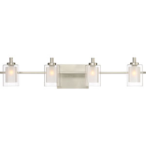 Kolt Brushed Nickel LED Four-Light Bath Light
