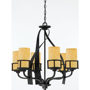 Kyle Imperial Bronze Six-Light Chandelier