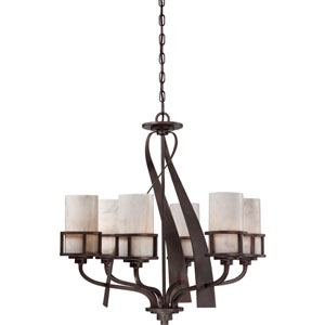 Kyle Iron Gate Six-Light Chandelier
