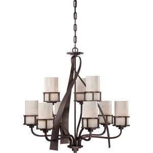 Kyle Iron Gate Nine-Light Chandelier