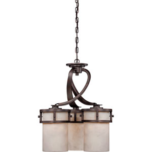 Kyle Iron Gate Three-Light Chandelier