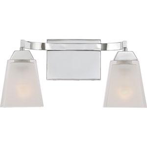 Loft Polished Chrome 15-Inch Two-Light Bath Vanity