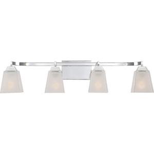 Loft Polished Chrome 34-Inch Four-Light Bath Vanity