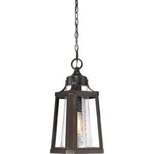 Lighthouse Palladian Bronze 9-Inch One-Light Outdoor Hanging Lantern