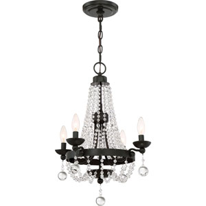 Livery Western Bronze 18-Inch Four-Light Chandelier