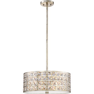 Luxury Vintage Gold 17-Inch Four-Light Pendant