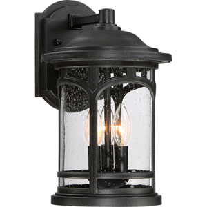 Marblehead Mystic Black 9-Inch Three-Light Outdoor Wall Lantern
