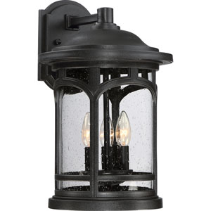 Marblehead Mystic Black 11-Inch Three-Light Outdoor Wall Lantern