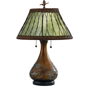 Soft Green Mica Table Lamp
