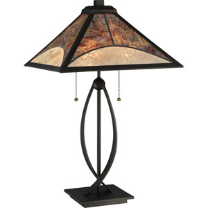 Mica Dark Bronze 25-Inch Two-Light Table Lamp