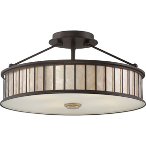 Belfair Western Bronze Four-Light Semi Flush Mount