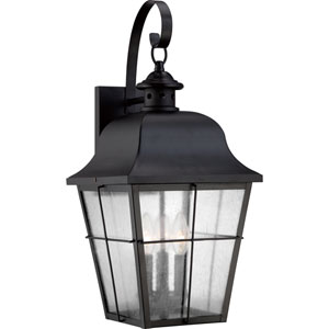 Millhouse Mystic Black Three Light Outdoor Wall Fixture