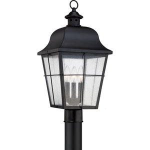 Millhouse Mystic Black Three Light Outdoor post