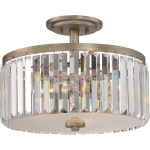 Mirage Vintage Gold 15-Inch Three-Light Semi Flush Mount