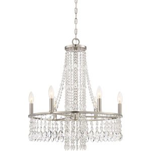 Majestic Brushed Nickel Six-Light Chandelier
