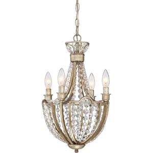 Majesty Vintage Gold 12-Inch Four-Light Chandelier