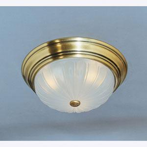 Antique Brass Melon Ceiling Light