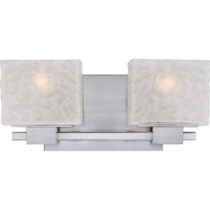 Melody Brushed Nickel Two Light Bath Fixture