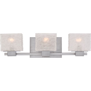 Melody Brushed Nickel Three Light Bath Fixture