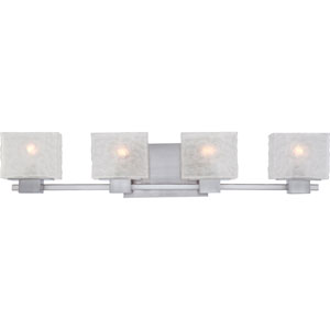 Melody Brushed Nickel Four Light Bath Fixture