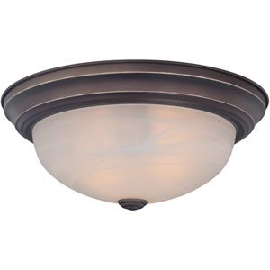 Manor Bronze Two-Light Flush Mount