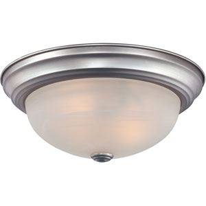 Manor Brushed Nickel Three-Light Flush Mount