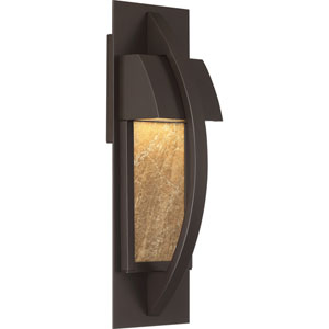 Monument Western Bronze 5-Inch Outdoor LED Wall Lantern